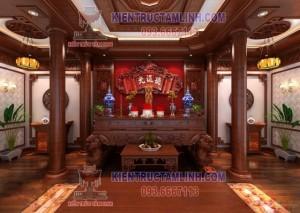 Nội thất phòng thờ gia đình anh Duyên - Long Biên