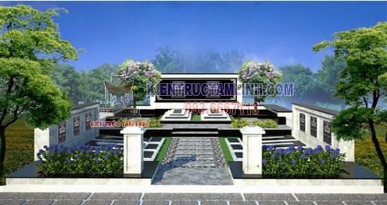 Các mẫu thiết kế thi công khuôn viên Lăng mộ gia đình