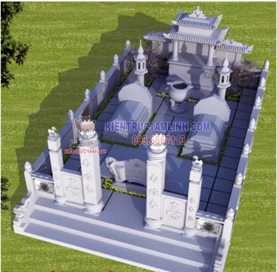 Các mẫu thiết kế thi công khuôn viên Lăng mộ đá đôi