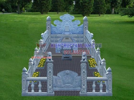 Các mẫu thiết kế thi công khuôn viên Lăng mộ đá đơn