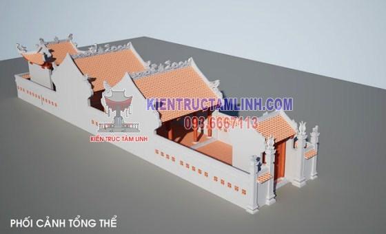 Mẫu thiết kế Nhà thờ họ Gia đình cụ Nguyễn Quang Nguyên - Thái Bình