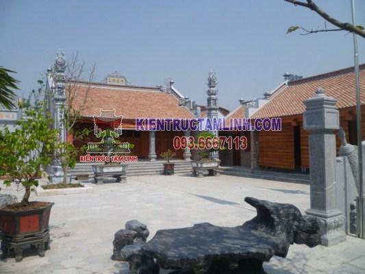 Mẫu thiết kế thi công Nhà thờ họ Hoàng - Thái Bình