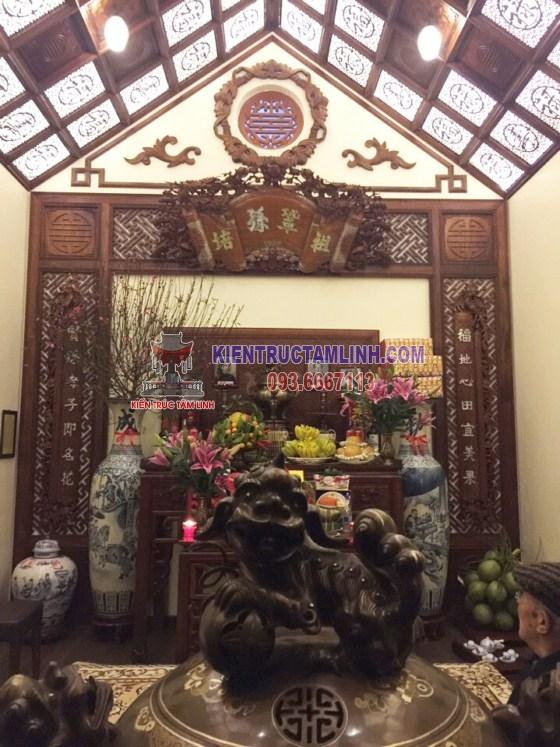 Mẫu thiết kế nội thất Phòng thờ Gia Đình Anh Vinh - Long Biên
