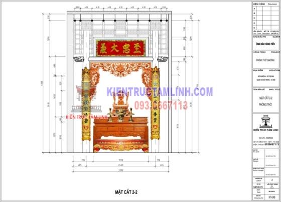 Mẫu thiết kế nội thất Phòng thờ Gia đình anh Tiến - Võ Thị Sáu