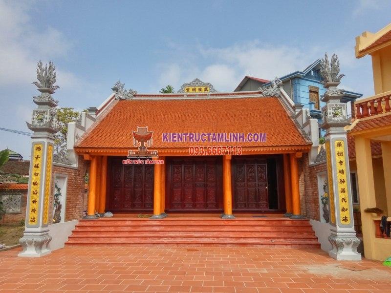 Mẫu Thiết kế Nhà thờ họ Vũ - Bắc Ninh