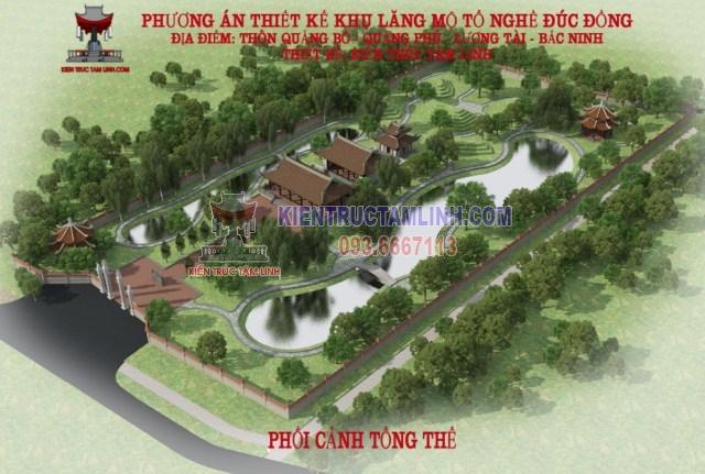 Thiết kế Lăng Tổ Nghề Đúc Đồng – Lương Tài – Bắc Ninh.