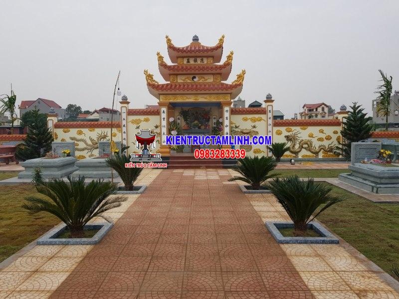 Mẫu thiết kế khu Lăng mộ Gia đình ở Bình Giang - Hải Dương