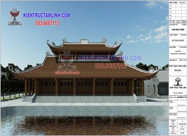 Thiết kế Chùa Bạch Tượng - Nga Sơn - Thanh Hóa