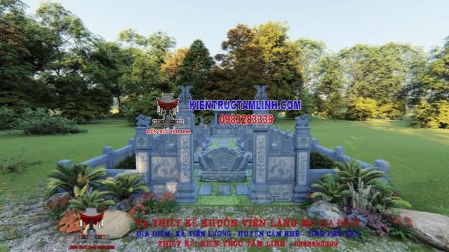 Thiết kế Khu Lăng mộ đá của Gia Đình Đỗ - Cẩm Khê - Phú Thọ